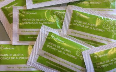 Cinco milhões de pacotes de açúcar alertam para sintomas de Alzheimer