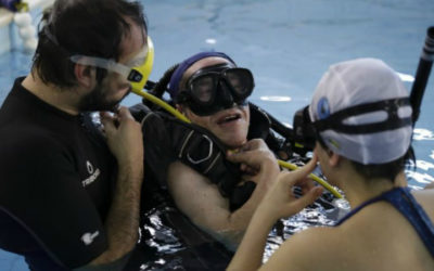 Gondomar: Associação dá aulas de mergulho a utentes com paralisia cerebral