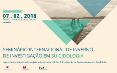 Investigação sobre suicídio é tema de seminário internacional de inverno na ESEnfC