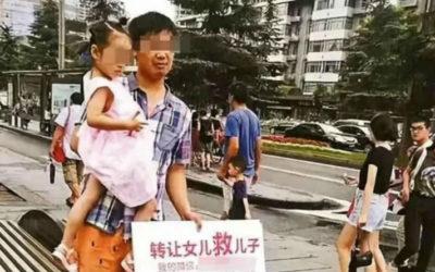 Pais chineses tentam vender filha para pagar tratamento do irmão
