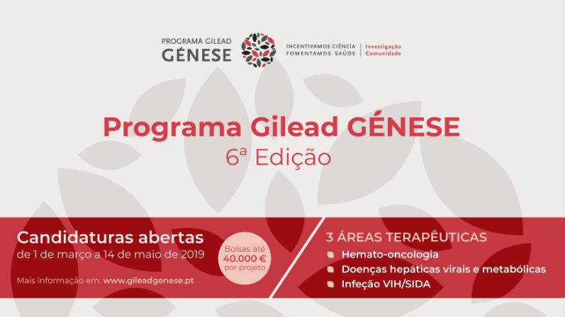 Abertas candidaturas ao Programa Gilead GÉNESE para projetos científicos e sociais em saúde