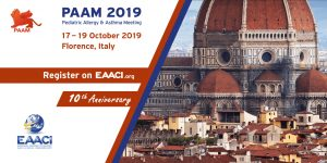 PAAM 2019, Pediatric Allergy and Asthma Meeting @ Florença, Itália