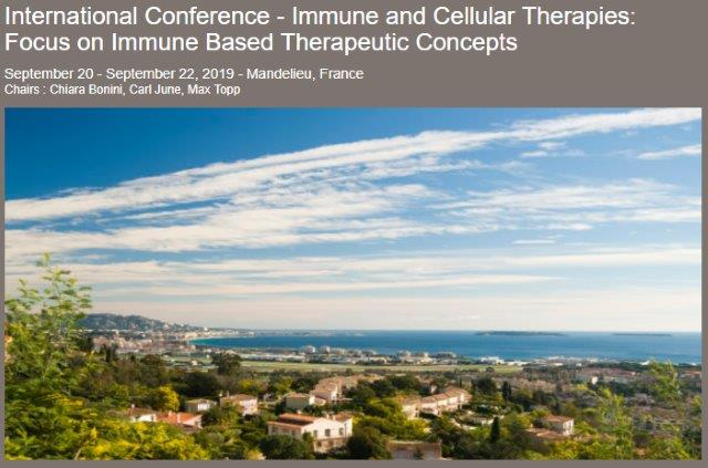 International Conference - Immune and Cellular Therapies: Focus on Immune Based Therapeutic Concepts