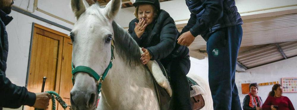 Equitação terapêutica ajuda em Matosinhos idosos que sobreviveram ao cancro